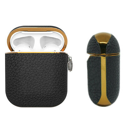 AU25.99 • Buy Apple AirPods Genuine Leather Case Black Luxury Shockproof Cover - Noir