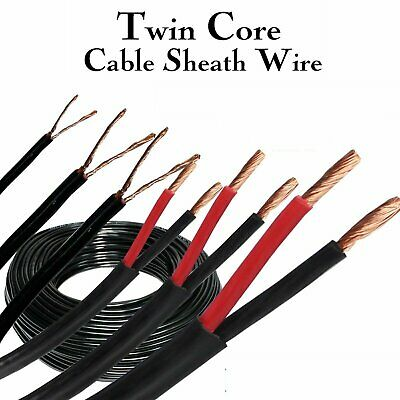 AU32.99 • Buy Twin Core Wire Automotive Copper Conductor Cable PVC Sheath RV Camper Wiring DIY