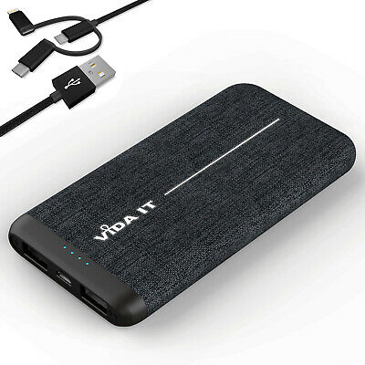 £19.87 • Buy Fabric Covered Design Power Bank 8000mAh Dual USB Battery Pack Travel Charger 2A
