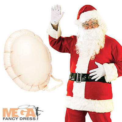 Santa Claus + Inflatable Belly Mens Fancy Dress Christmas Adults Costume Outfit • 27.99£