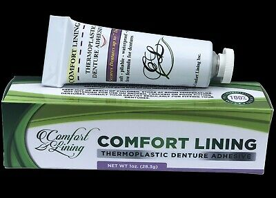 $24.97 • Buy Comfort Lining - Soft Pliable Thermoplastic To Refit Dentures 1 Oz