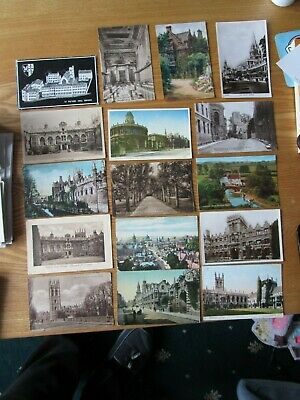 16 Postcards Of Oxford - College's, Church's, University, High St, Gdns, Bridge • 3.99£