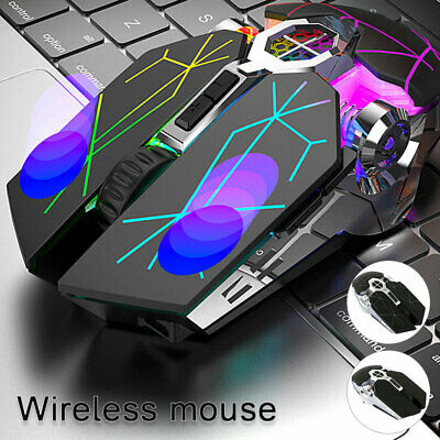 AU18.35 • Buy Wireless Mouse Led Laser Usb Optical Game Gaming Rechargable Silent Laptop Pc Au