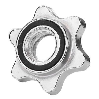 $ CDN9.11 • Buy Lifting Standard Hex Nut Barbell Bar Solid Steel Spin-lock Dumbell Clamps SS6