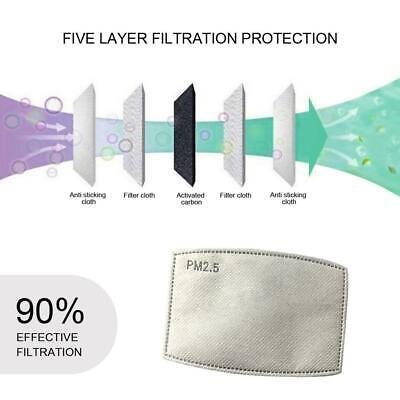 $ CDN14.39 • Buy 10/20 PCS PM2.5 Adult 5 Layer Activated Carbon Face Mask Filter Replacements~