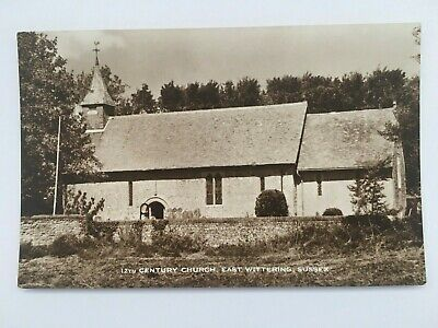 12th Century Church, East Wittering, Sussex - Old RP Postcard • 1.25£