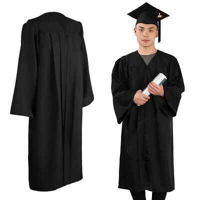 University Graduation Gown And Hat Set With Blings Removable Tassel Bachelor UK • 17.09£