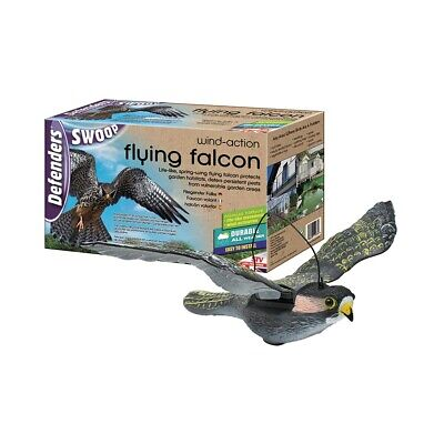 Wind Action Flying-Falcon Decoy Fake Bird Pigeon Scare Repeller Deterrent STV973 • 21.89£