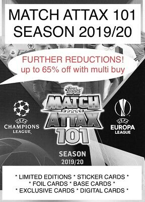 2019/20 TOPPS MATCH ATTAX 101 ALL CARDS Up To 50% Off Multi Buy • 1£