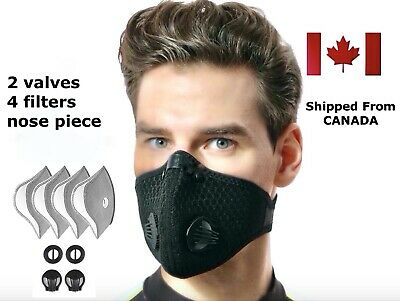 $ CDN12.99 • Buy Reusable Breathable Face Mask With 2 Valves & 4 FREE FILTERS -Sports Mask