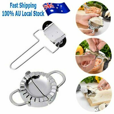 AU13.99 • Buy Stainless Steel Pastry Tool Dumpling Maker Mould Kitchen + Flour Ring Cutter Set