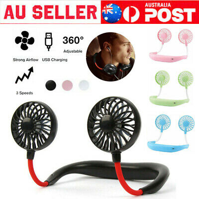 AU18.99 • Buy Sports Fan Travel Hanging USB Charging Creative Lazy Tool Neck Portable Gifts