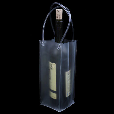 1X Durable Clear Transparent PVC Champagne Wine Ice Pouch Cooler Bag With HaYNDS • 3.02£