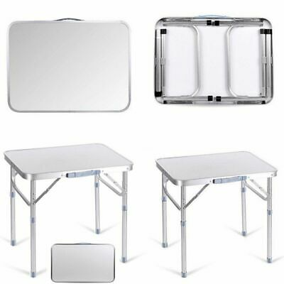 Portable Adjustable Folding Table Step Up Stool Camping Outdoor Picnic Party BBQ • 18.99£