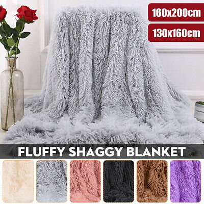 UK Luxury Throws Cuddly Cosy Warm Blanket Sofa Bed Fluffy Double King Bedspread • 19.99£