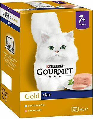 Gourmet Gold Senior Pate Selection Wet Cat Food 24 X 85g 1.02kg • 24£