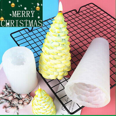 3D Christmas Tree Candle Soap Making Mold Silicone Wax Resin Casting Mould Craft • 5.99£