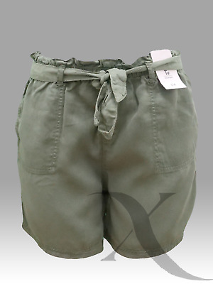 Womens Shorts Khaki  Ladies Summer Beach Casual Size  12 14 16 18 Short Ex TU  • 6.50£