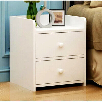 AU69 • Buy Bedside Tables Drawers Side Table Bedroom Furniture Nightstand White Unit