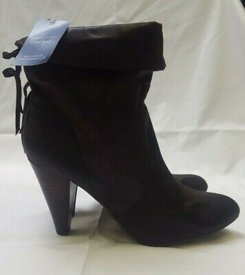 PAVERS Womens Brown Heel Ankle Boots Roll Top UK Size 8 D52 • 12.99£
