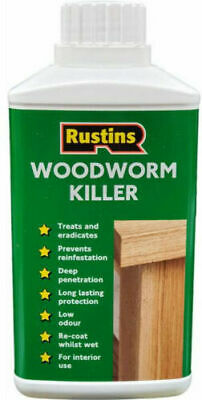 Rustins  Woodworm Killer Fast And Effective Treatment For Wood-Worm 250ml • 14.99£