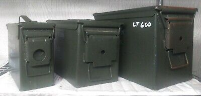 $64.99 • Buy 3 - LOT U.S. Military Surplus PA108 Fat 50 SAW + 50 Cal Can + 30 Cal M2A1 Can
