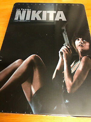 LA FEMME NIKITA - LUC BESSON DVD ANNE PARILLAUD Limited Edition Steel Metal Tin • 8.61£