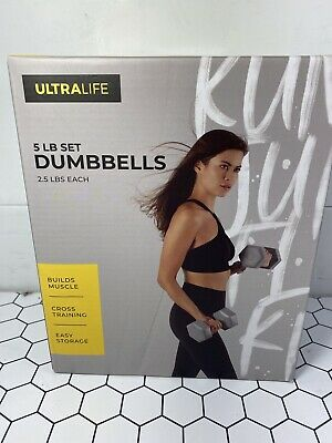 $ CDN44.29 • Buy ULTRA LIFE 5 LB Set Dumbbells Weights 2.5lbs Each (2) New Gym Training Gray