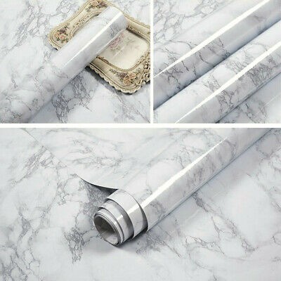 5m Kitchen Worktop Marble Wallpaper DIY Cover Self Adhesive Wall Stickers Papers • 13.95£