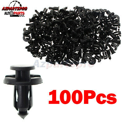 $8.39 • Buy 100pcs Bumper Engine Cover Fender Push Type Retainers Fasteners Clips For Subaru