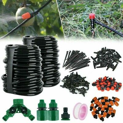 30M Micro Drip Irrigation Watering Automatic Garden Plants Greenhouse System Kit • 10.49£