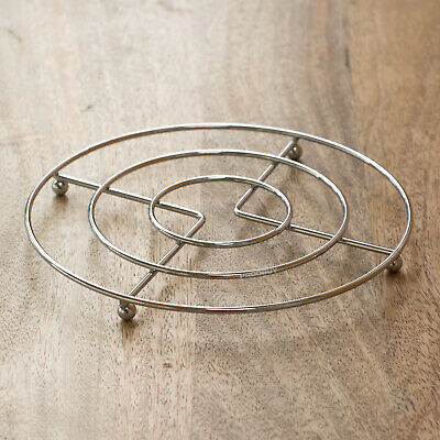 £4.49 • Buy 17cm Round Metal Trivet Kitchen Worktop Surface Protector Hot Pan Kettle Stand
