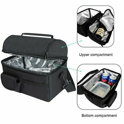 Waterproof Insulated Thermal Cooler Lunch Box Carry Tote Work Case Storage Bag • 8.05£