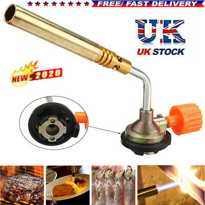 Gas Blow Torch Butane Flame Burner Welding Ignition Blowtorch Camping Bbq Toolft • 6.35£