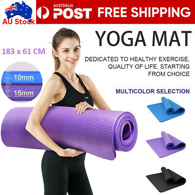 AU15.99 • Buy Exercise Mat EVA Yoga Mat Non-Slip Gym Fitness Pilates Workouts Durable Pad Mats