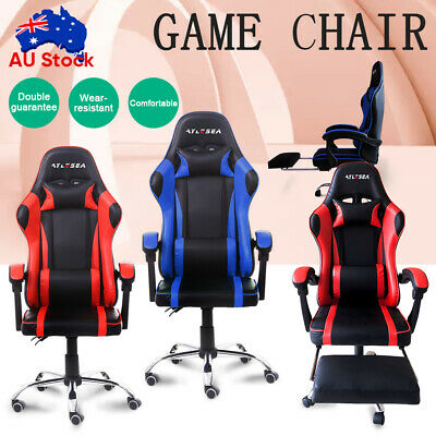 AU128.79 • Buy Gaming Chair Office Executive Computer Game Chairs Seating Racing Recliner NEW