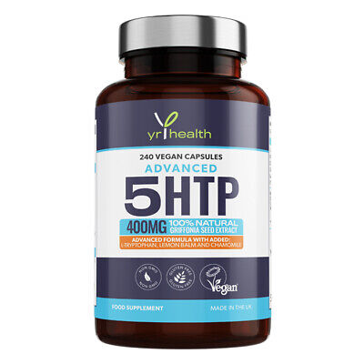 £14.97 • Buy 5HTP 400mg Griffonia Seed Extract 240 Capsules With L-Tryptophan And Chamomile
