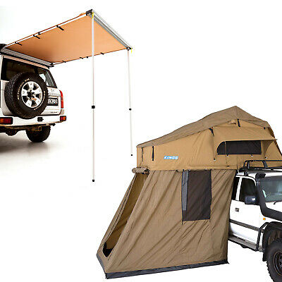 AU1097 • Buy Adventure Kings Roof Top Tent + 4-man Annex + Rear Awning - 1.4 X 2m