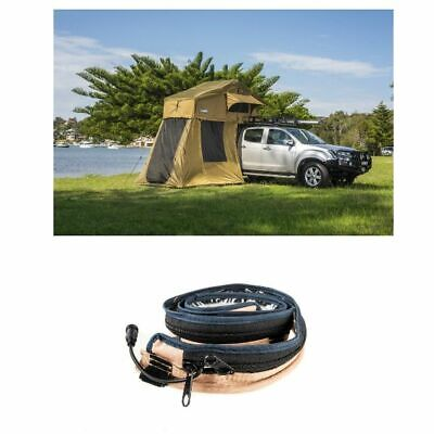 AU1027.95 • Buy Kings Roof Top Tent With 4 Man Annex + MAX LED Strip Light