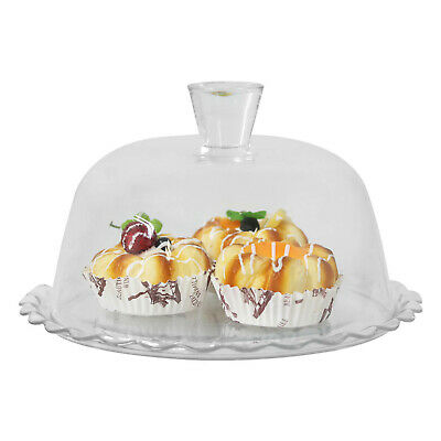 £12.50 • Buy Pasabahce Glass Cake Stand With Dome Lid Cupcake Display Serving Platter Tray