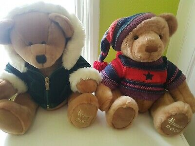 Pair Of Harrods 13 Inch Teddy Bears 2001 And 2004 VGC Free Postage • 26.99£