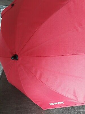 Icandy Peach Red Parasol With Clip Clamp • 19.90£