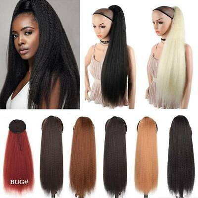 £11.59 • Buy Real Kinky Drawstring Ponytail Long Clip In As Human Pony Tail Hair Extensions