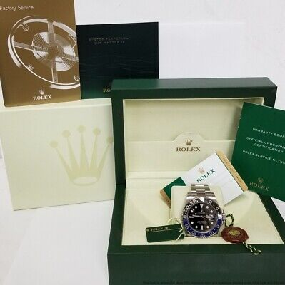 $ CDN17754.83 • Buy Rolex GMT Master II 116710 Batman Mens Steel Watch Box Papers
