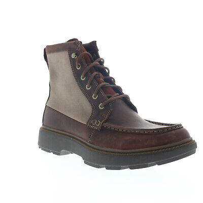 $38.99 • Buy Clarks Dempsey Peak 26147111 Mens Brown Leather Lace Up Casual Dress Boots