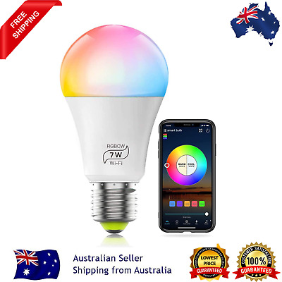 AU20.11 • Buy E27 WiFi Smart LED Light Bulb Globe For Alexa Google Home RGB Color Lamp AU