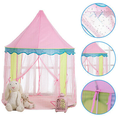 Kids Teepee Pop Up Princess Castle Playing Tent Indoor Outdoor Playhouse • 27.42£
