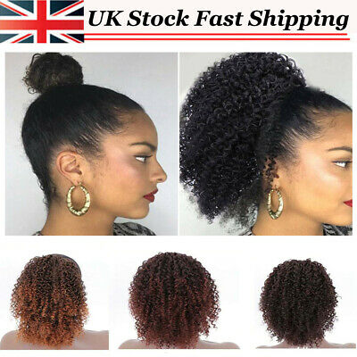 £13.88 • Buy Afro Kinky Curly Ponytail Hair Extensions Drawstring As Human Hair Pony Tail NEW