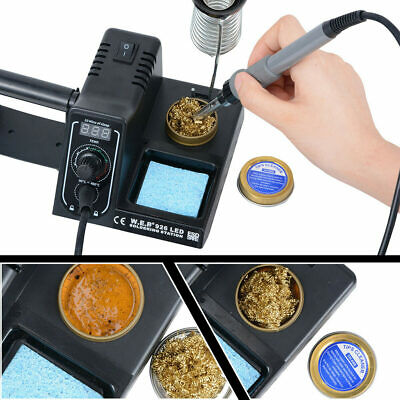 60W Soldering Iron Station Rework LED Variable Temperature Digital Solder Wire • 22.94£