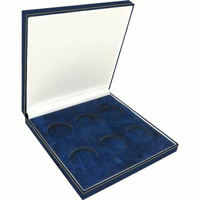 £19.15 • Buy Coin Medal Presentation Box Display Case Six Coin 44mm Navy Blue